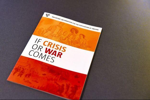 """La brochure """"En cas de crise ou de guerre"""" qui sera envoyée aux Suédois dans les prochains jours."""