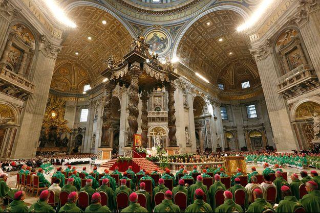 La messe de clôture du synode de la famille dimanche au Vatican.