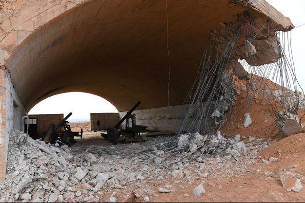 Dégâts à Idlib, en janvier 2018, photographiés par l'agence nationale syrienne.