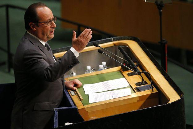 François Hollande aux Nations unies, lundi.