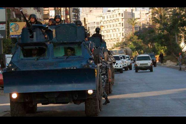 L'armée est intervenue dimanche à Tripoli.