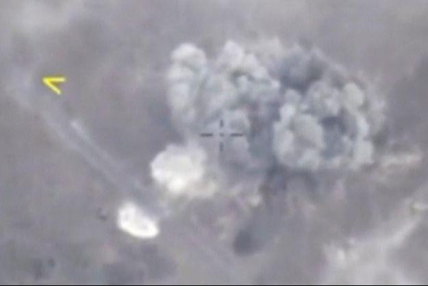 Une frappe russe sur Idleb, le 4 septembre 2018.