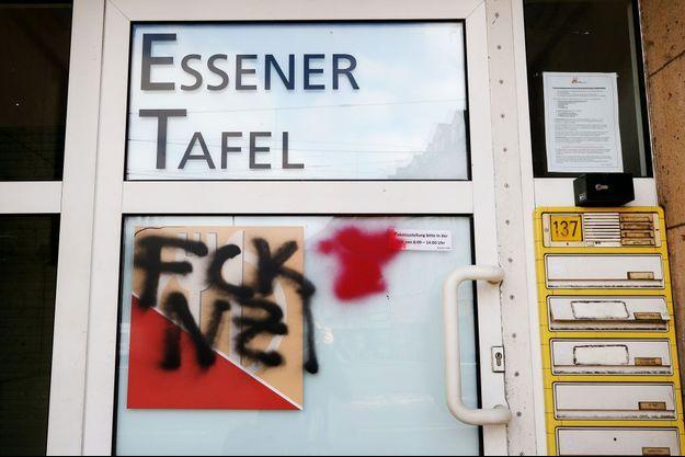 """Tag """"FCK NZI"""" à Essen en Allemagne le 26 février 2018"""