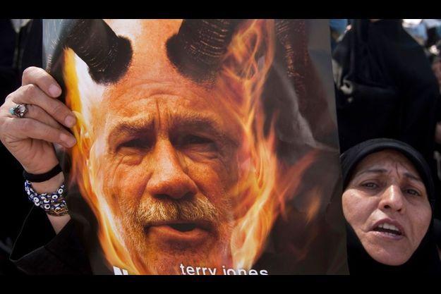Photographie prise lors d'une manifestation en Iran.