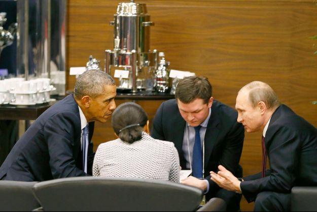 Barack Obama et Vladimir Poutine ont longuement évoqué la question de la Syrie.