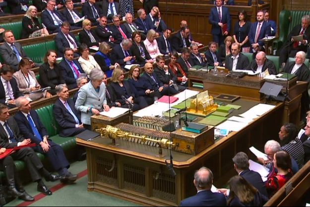 Theresa May à la Chambre des communes lundi.