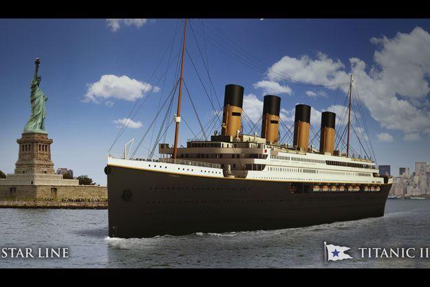 Le futur Titanic II, représenté en images de synthèse.