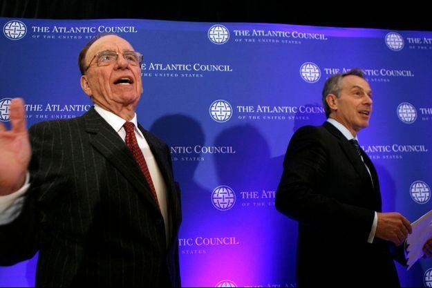 Rupert Murdoch et Tony Blair en avril 2008.