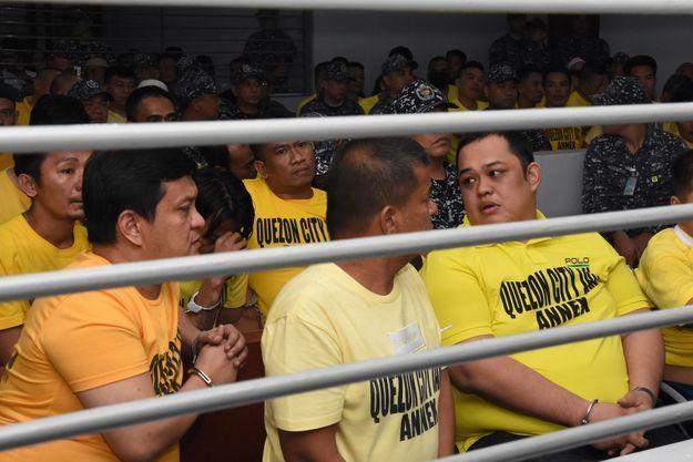 Les accusés du massacre, le 19 décembre 2019 à Manille.