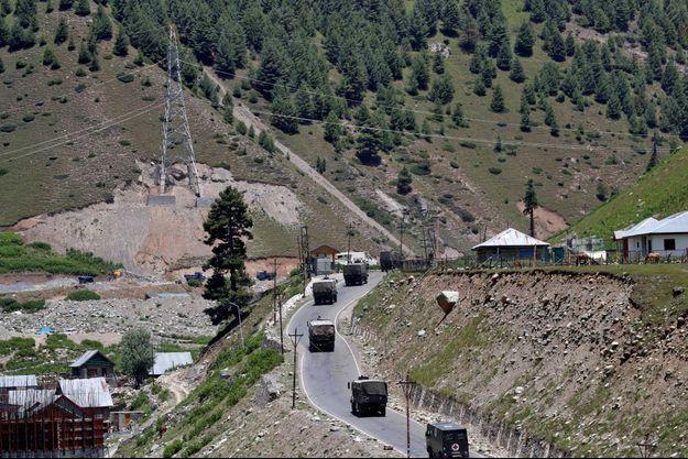 Un convoi de l'armée indienne à Gagangeer (image d'illustration).
