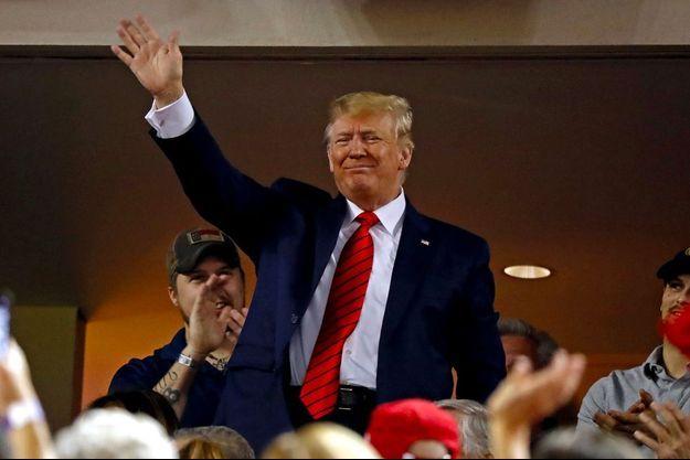 Donald Trump au Nationals Park, dimanche soir.