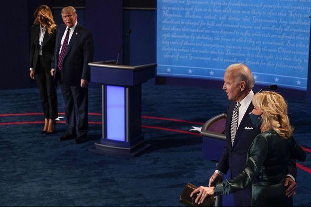 Les Biden et les Trump lors du premier débat pour la Présidentielle américaine.