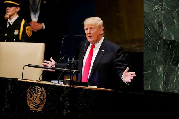 Donald Trump à l'ONU mardi 25 septembre.