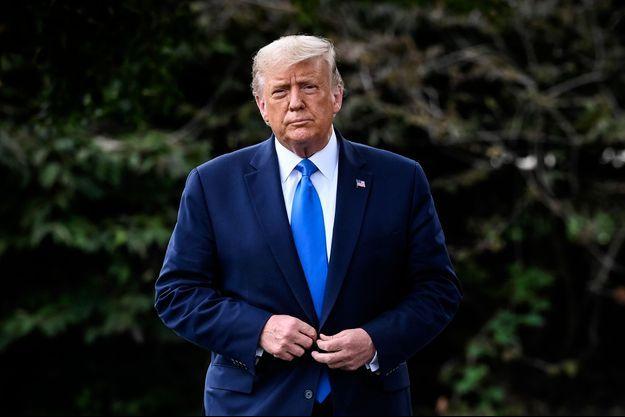 Donald Trump, devant la Maison Blanche, le 24 septembre 2020.