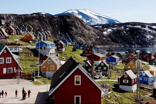 Upernavik, une ville à l'ouest du Groenland.