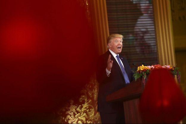 Donald Trump à Pékin, en novembre 2017.