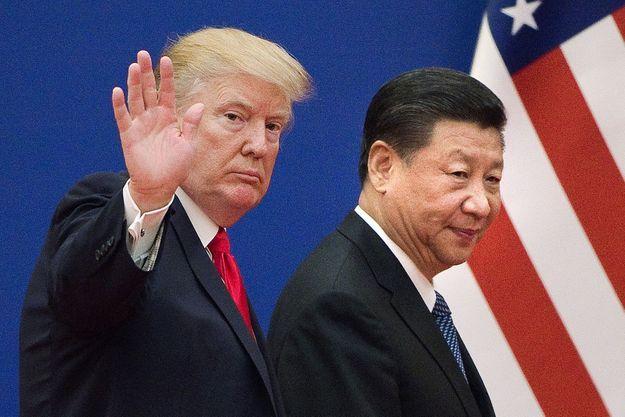 Donald Trump et Xi Jinping en novembre 2017 à Pékin.