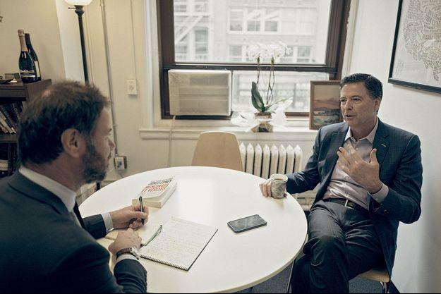 James Comey a reçu notre journaliste, Olivier O'Mahony, le 19 avril, dans un bureau discret du Flatiron Building à Manhattan, New York.