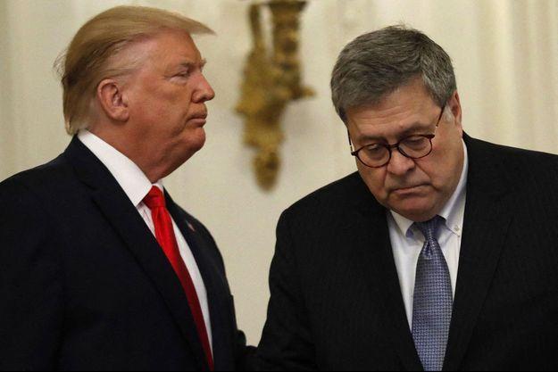 Donald Trump et Bill Barr sur un cliché datant du 9 septembre 2019.