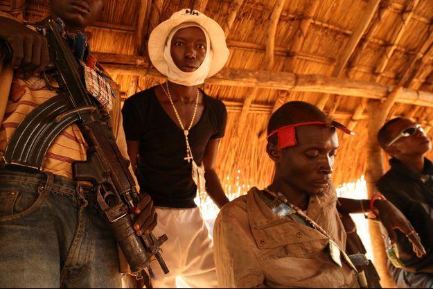 Des miliciens chrétiens anti-balaka à Bangui, ce weekend.