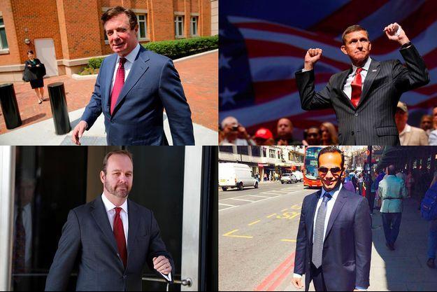 Paul Manafort, Michael Flynn, Rick Gates et George Papadopoulos ont tous les quatre été mis en examen.