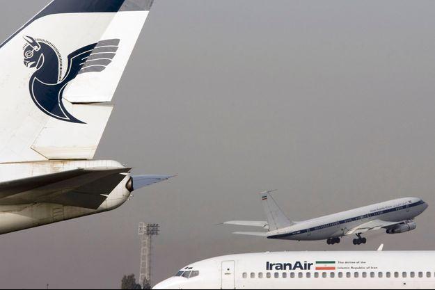 Avions à l'aéroport de Mehrabad, à Téhéran.