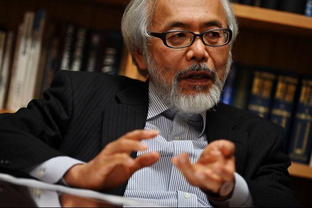 Takashi Takano, avocat japonais de Carlos Ghosn en mars 2019.