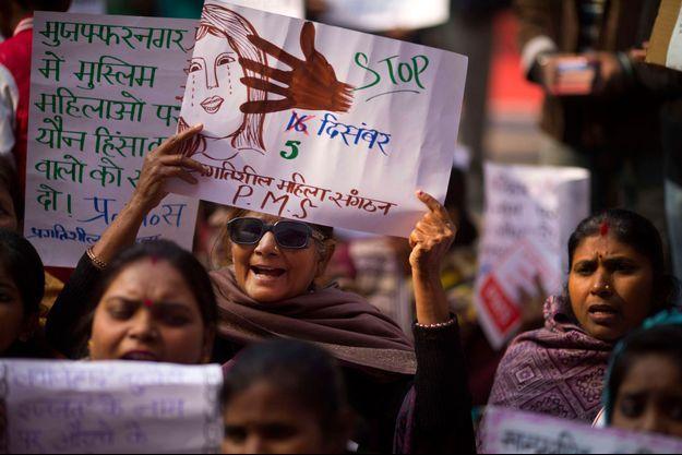 Manifestation en Inde contre Uber.