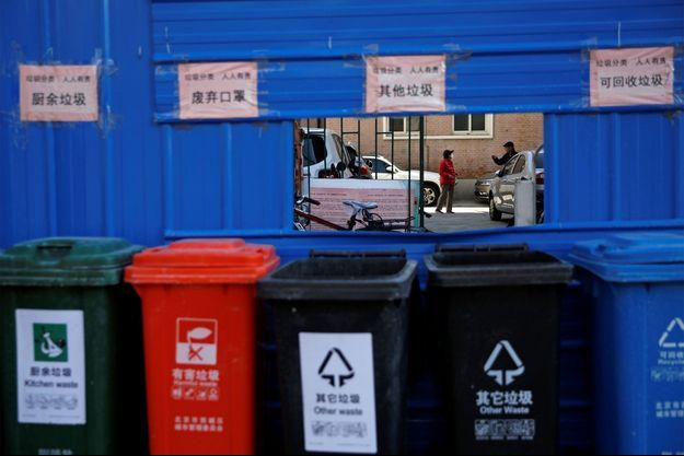 Une rue de Pékin. Image d'illustration.