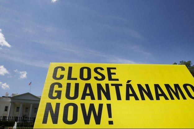 Une manifestation pour la fermeture de Guantanamo devant la Maison Blanche en mai 2014.