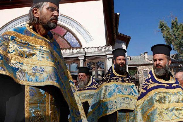 La cérémonie de la Portaïtissa consacrée à la Vierge Marie déploie son cortège de processions ; ici, en août dernier.