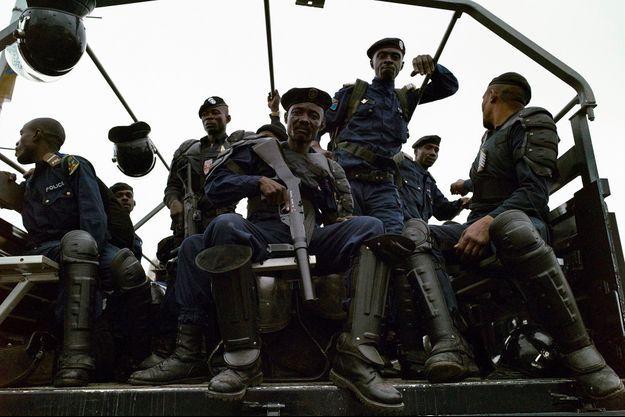 Des policiers congolais à Kinshasa, en septembre 2016 (image d'illustration).
