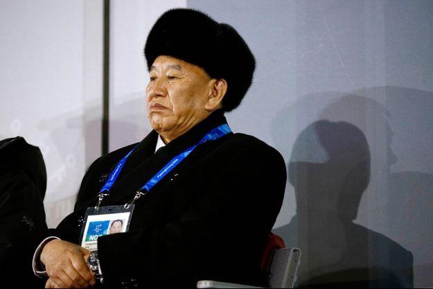 Le général Kim Yong Chol aux JO de Pyeongchang.