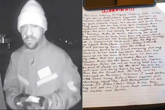 James Dale Reed, l'homme mis en examen pour avoir menacé de tuer Joe Biden et Kamala Harris.