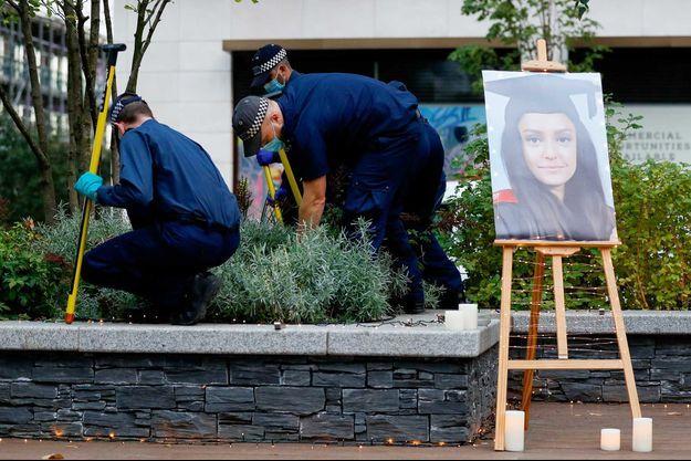 Près de lieu du crime de Sabina Nessa, à Londres.