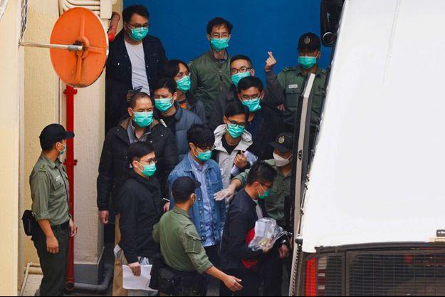 Des manifestants pro-démocratie jugés à Hong Kong, le 2 mars 2021.