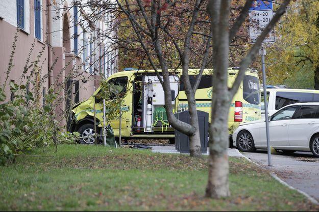 Illustration d'une ambulance, à Oslo, en Norvège.
