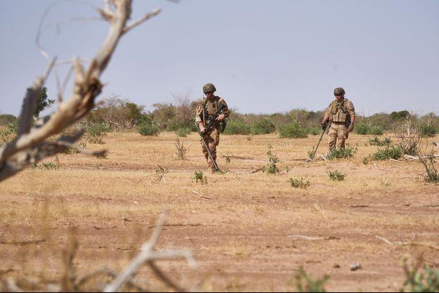 Des soldats français de l'opération Barkhane au Burkina Faso en novembre (image d'illustration)