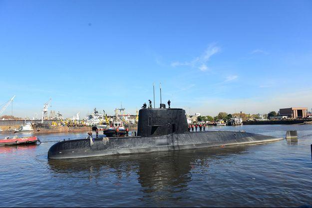 "Le sous-marin ""Ara San Juan"" en 2014."