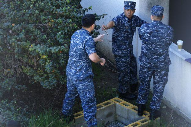 Les forces de l'ordre sont intervenues au Naval Medical Center de San Diego, ce mardi.