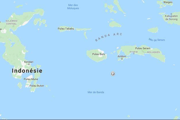 Le séisme s'est produit à une profondeur de 208 kilomètres en mer de Banda, au sud de l'archipel des Moluques.