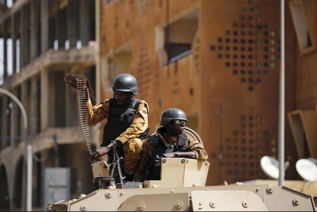 Des soldats déployés à Ouagadougou.