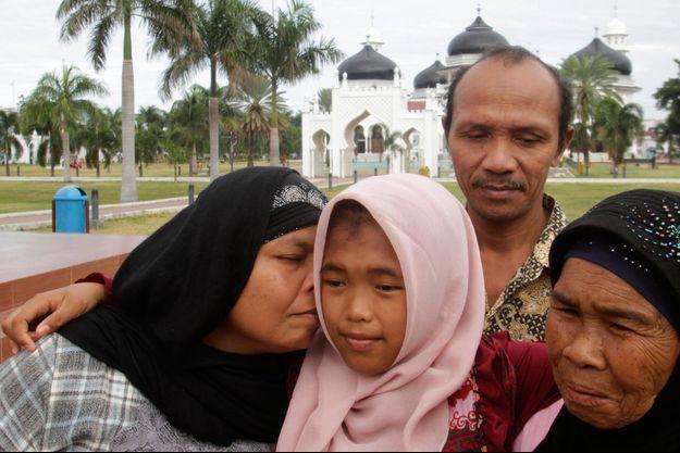 Les retrouvailles de Jannah avec sa famille à Banda Aceh.