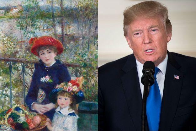 "Donald Trump prétend posséder l'orignal de ""Les Deux soeurs"" de Renoir."