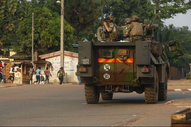 Photo d'illustration : des soldats de l'opération Sangaris à Bangui en février dernier.
