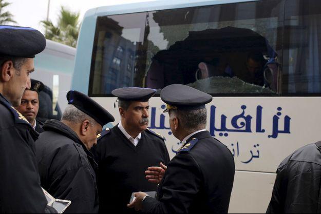 La police non loin de l'attaque d'un bus de touristes à Gizeh jeudi (image d'illustration).