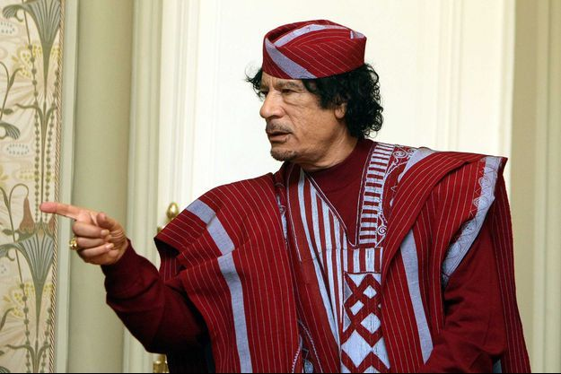 Mouammar Khadafi en 2008.