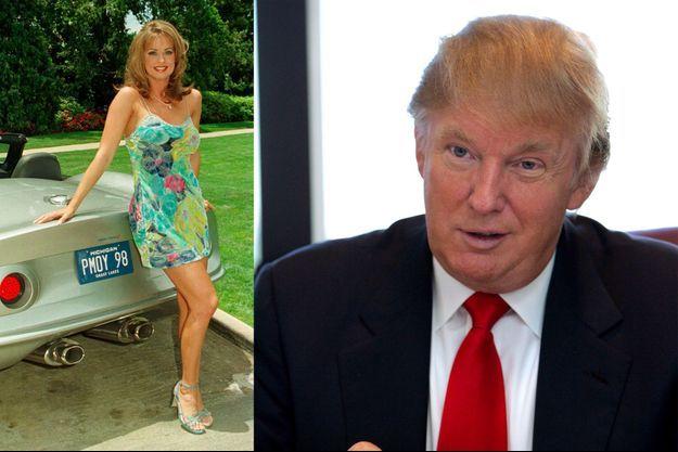 Karen McDougal en 1998 et Donald Trump en 2006.