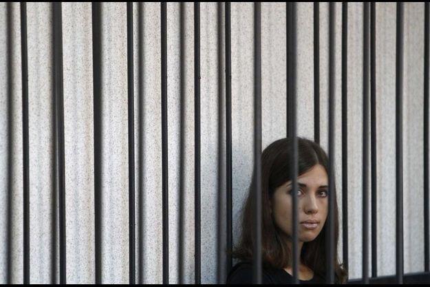 Nadejda Tolokonnikova lors de l'examen de son appel le 26 juillet.
