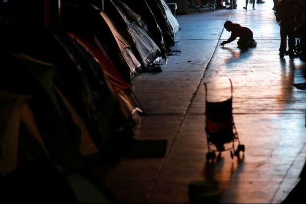 Un enfant faisant partie de la caravane de migrants qui voulait rejoindre les USA en décembre dernier.
